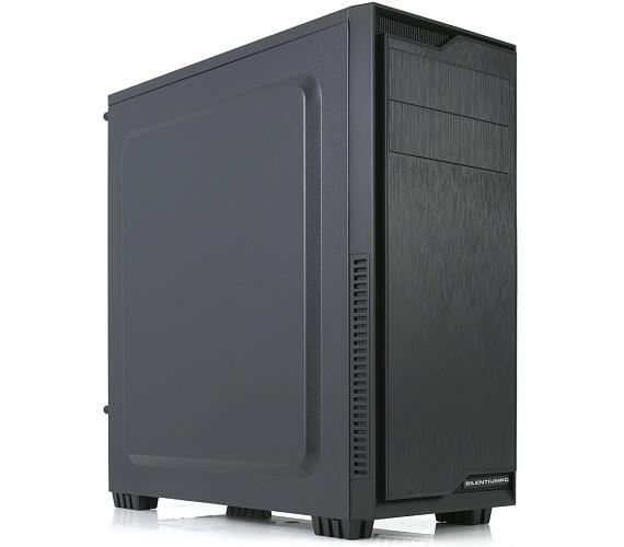 SilentiumPC skříň MidT Regnum RG1 Pure Black / USB 3.0 / 120mm fan / černá