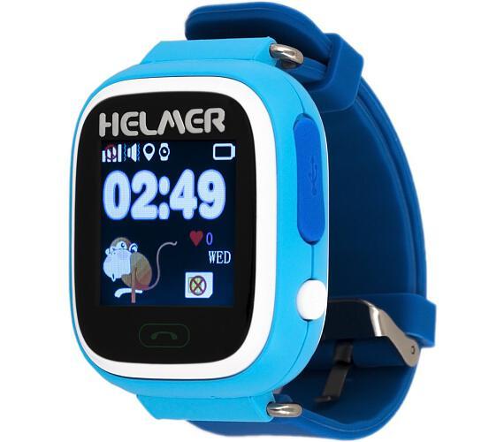 HELMER dětské hodinky LK 703 s GPS lokátorem/ dotykový display/ micro SIM/ IP54/ kompatibilní s Android a iOS/ modré (Helmer LK 703 B)
