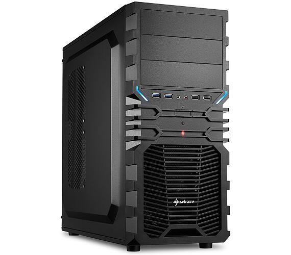 Sharkoon skříň VG4-V / Middle Tower / 2x USB3.0 / 2x USB2.0 / černá