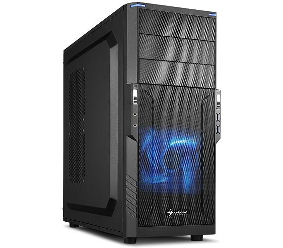 Sharkoon skříň T3-V / Middle Tower / 2x USB3.0 / černá