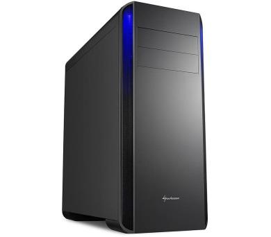 Sharkoon skříň BW9000-V / Middle Tower / 2x USB3.0 / 2x USB2.0 / černá + DOPRAVA ZDARMA