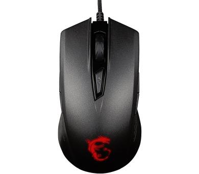 MSI myš GM 40 Matte Black / drátová / 5000dpi / 9 tlačítek / USB