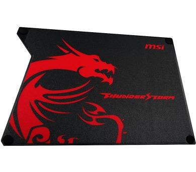 MSI podložka pod myš Thunderstorm Aluminum GAMING Mouse Pad / omyvatelná / 320 x 225 x 2 mm / hliníková