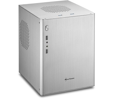 Sharkoon skříň CA-M / Mini Tower / 2x USB3.0 / 2x USB2.0 / stříbrná
