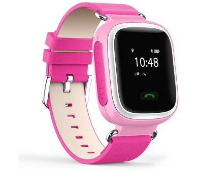 HELMER dětské hodinky LK 702 s GPS lokátorem/ micro SIM/ IP54/ kompatibilní s Android a iOS/ růžové (Helmer LK 702 P)