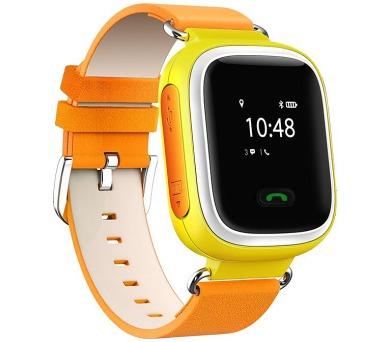 HELMER dětské hodinky LK 702 s GPS lokátorem/ micro SIM/ IP54/ kompatibilní s Android a iOS/ žluté (Helmer LK 702 Y)