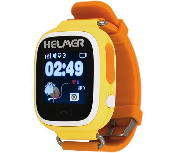 HELMER dětské hodinky LK 703 s GPS lokátorem/ dotykový display/ micro SIM/ IP54/ kompatibilní s Android a iOS/ žluté (Helmer LK 703 Y)