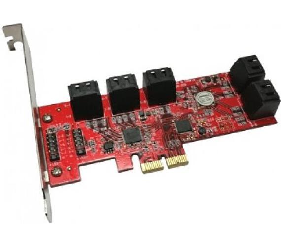 Kouwell PE-129 / PCI-E řadič / 10x SATA / Low profile