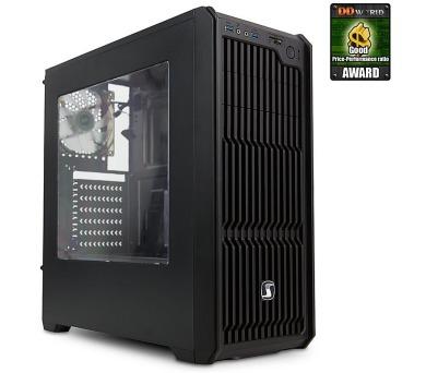 SilentiumPC skříň MidT Regnum RG2W Pure Black / průhledná bočnice/ 2x USB 3.0 / 3x 120mm fan / čtečka karet/ černá