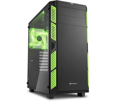Sharkoon skříň AI7000 Glass Green / Midi Tower / ATX / 2x USB3.0 / 2x USB2.0 / průhledná bočnice / zelená + DOPRAVA ZDARMA