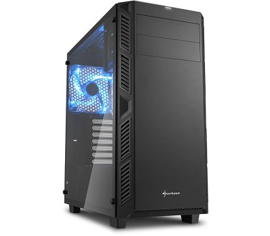 Sharkoon skříň AI7000 Glass Black / Midi Tower / ATX / 2x USB3.0 / 2x USB2.0 / průhledná bočnice / černá
