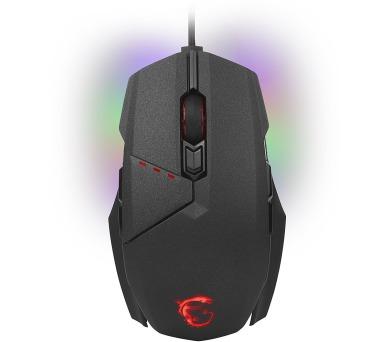 MSI herní myš CLUTCH GM60 Gaming/ drátová/ 10.800dpi / 8 tlačítek/ RGB/ USB (S12-0401470-D22)