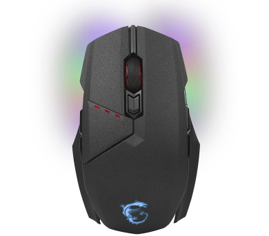 MSI bezdrátová myš Clutch GM 70 Gaming / drátová/bezdrát. / měnitelný grip / 18000dpi / 8 tlačítek / RGB / USB