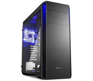 Sharkoon skříň BW9000 Glass / Midi Tower / 2x USB3.0 / 2x USB2.0 / průhledná bočnice / černá + DOPRAVA ZDARMA