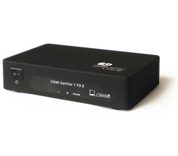 PremiumCord HDMI splitter 1-2 porty kovový s napájením
