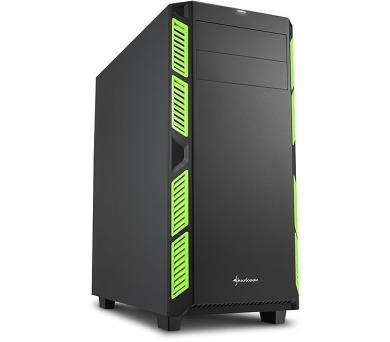 Sharkoon skříň AI7000 Silent Green / Midi Tower / ATX / 2x USB3.0 / 2x USB2.0 / neprůhledná bočnice / zelená