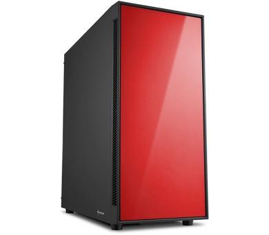Sharkoon skříň AM5 Silent Red / Midi Tower / ATX / 2x USB3.0 / 2x USB2.0 / neprůhledná bočnice / červená + DOPRAVA ZDARMA