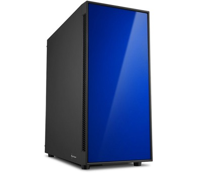 Sharkoon skříň AM5 Silent Blue / Midi Tower / ATX / 2x USB3.0 / 2x USB2.0 / neprůhledná bočnice / modrá + DOPRAVA ZDARMA