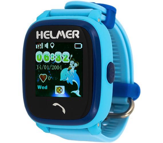 HELMER dětské hodinky LK 704 s GPS lokátorem/ dotykový display/ micro SIM/ IP67/ kompatibilní s Android a iOS/ modré (Helmer LK 704 B)