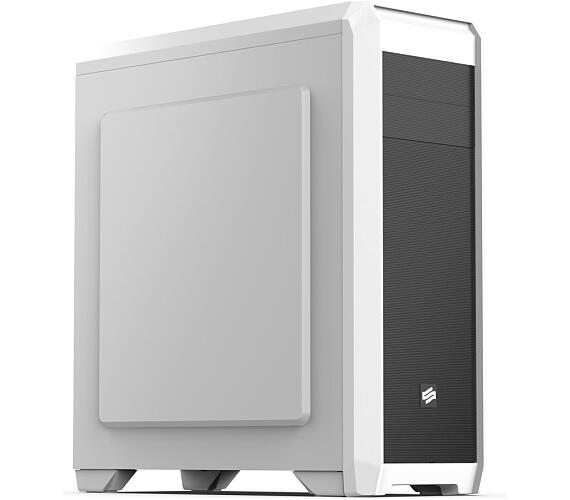 SilentiumPC skříň Regnum RG4F Frosty White / ATX / čtečka SD / USB 3.0 / 3x 120mm fan / regulace otáček/ bílá (SPC179)