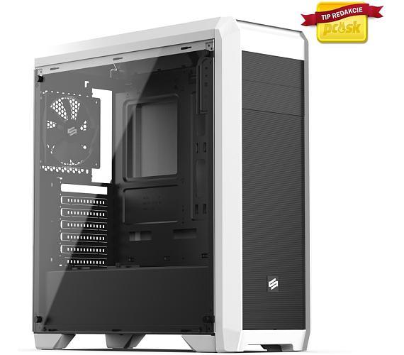 SilentiumPC skříň Regnum RG4TF Frosty White TG / celoskleněná bočnice/ATX/čtečka SD / USB 3.0 / regulace otáček/ bílá (SPC180)