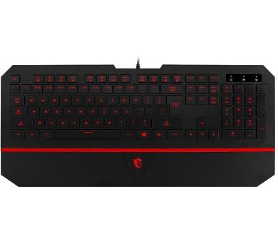 MSI herní klávesnice INTERCEPTOR DS4100/ drátová/ podsvícená/ USB/ CZ layout (S11-04CS203-EB5)