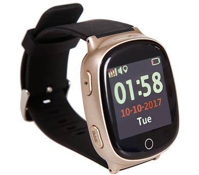 HELMER seniorské hodinky LK 705 s GPS lokátorem/ dot. display/ snímač srdečního tepu/ micro SIM/ IP65/ kom. s Andr. + DOPRAVA ZDARMA