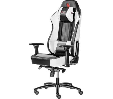SPC Gear SR700 WH herní židle prostorná / do 195 cm/ do 150 kg / bílá
