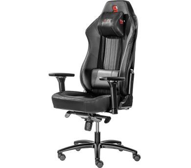 SPC Gear SR700 BK herní židle prostorná/ do 195 cm/ do 150 kg / černá (SPG009) + DOPRAVA ZDARMA