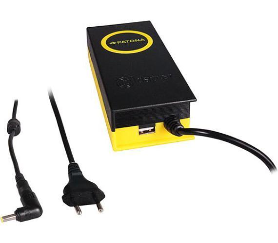 PATONA napájecí adaptér k ntb/ 19V/4,7A 90W/ konektor 4,8x1,7mm/ + výstup USB (PT2604) + DOPRAVA ZDARMA