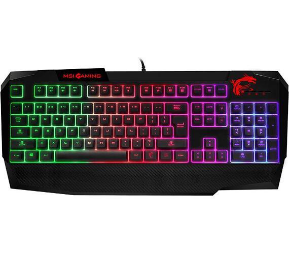 MSI klávesnice Vigor GK40 / drátová / RGB podsvícení / multimediální / MSI Mystic light / USB / CZ layout