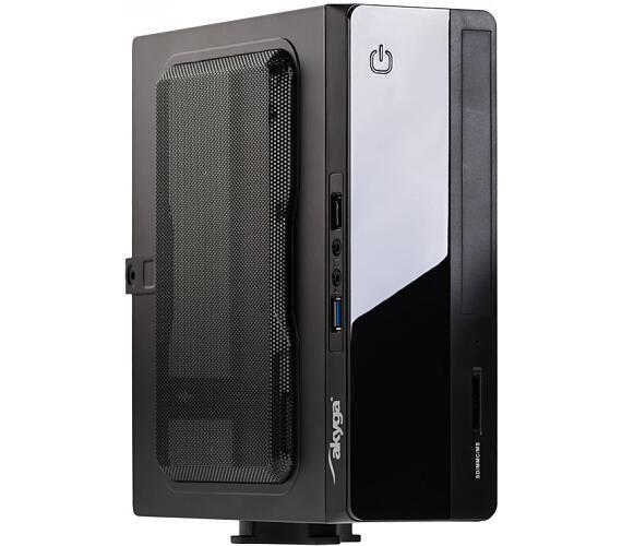 Akyga PC skříň mini ITX 1xUSB3.0 s PC zdrojem 150W (AK-101-01BK)