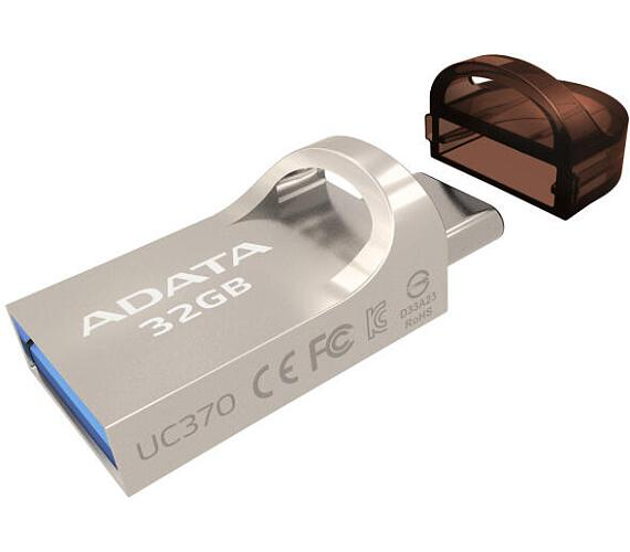 ADATA flash disk 32GB UC370 OTG USB 3.1 USB-C kovový