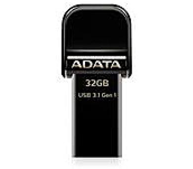 ADATA flash disk 32GB AI920 Lightning USB 3.1 Gen1 (čtení/zápis: 150/30MB/s) černý (AAI920-32G-CBK)