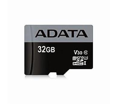 ADATA paměťová karta 32GB Premier Pro micro SDHC UHS-I U3 V30S (čtení/zápis: 95/50MB/s)