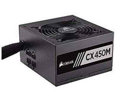 Corsair PC zdroj 450W CX450M semi-modulární 80+ Bronze 120mm ventilátor