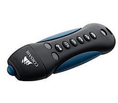 Corsair flash disk 16GB Padlock 3 256-bit AES šifrování USB 3.0 modro-černý