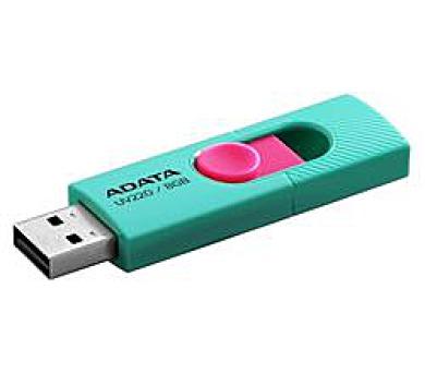 ADATA flash disk 8GB UV220 USB 2.0 zeleno-růžový