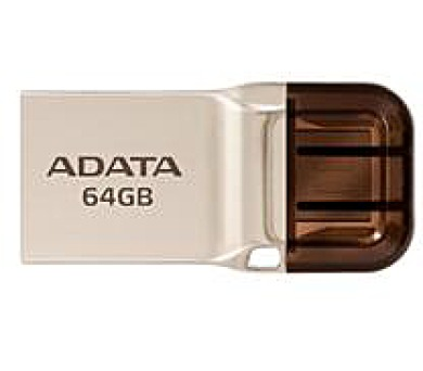 ADATA flash disk 64GB UC360 OTG USB 3.1 micro USB kovový (AUC360-64G-RGD)