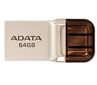ADATA flash disk 64GB UC360 OTG USB 3.1 micro USB kovový