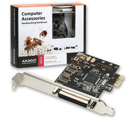 AXAGO PCI-Express adapter 1x paralel port + LP (PCEA-P1)