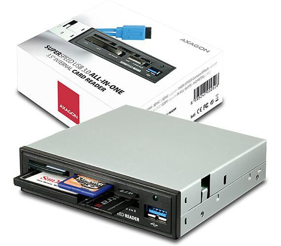 """AXAGON interní 3.5"""" USB 3.0 5-slot čtečka ALL-IN-O"""
