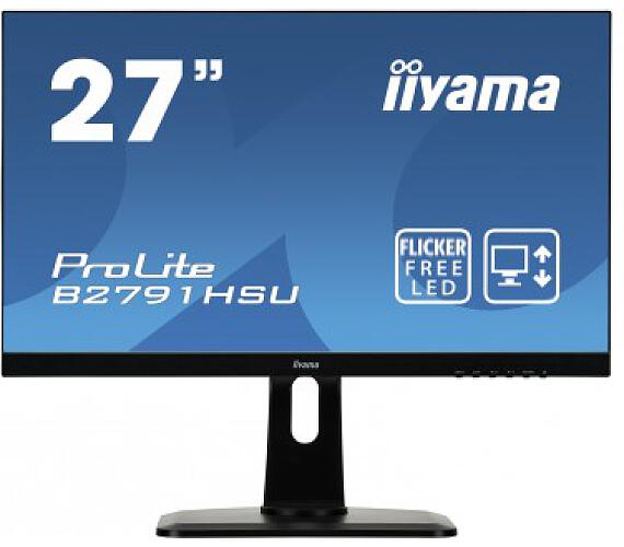 iiyama B2791HSU-B1 - 1ms,300cd/m2,1000:1,FHD,VGA,DP,HDMI,USB,repro,pivot,výš.nastav.,černý + DOPRAVA ZDARMA