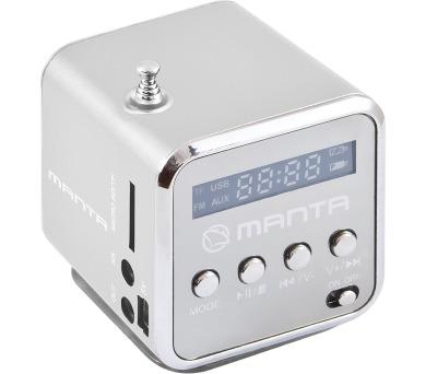 MANTA MM420 Minirádio - stříbrné
