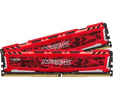 Crucial Ballistix Sport LT Red CL16 SRx8 uDIMM kit 2x16GB