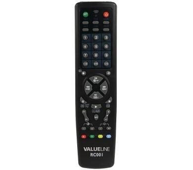 VALUELINE univerzální předprogramovaný dálkový ovladač 10v1/ vhodný pro více než 250 značek (VLR-RC001)