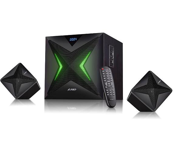 FENDA F&D repro F550X/ 2.1/ 56W/ černé/ BT4.0/ NFC/ FM rádio/ USB/SD přehrávání/ dálkové ovládání