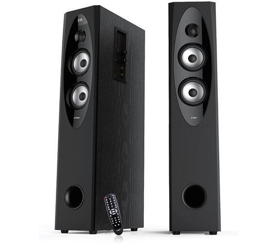 FENDA F&D repro T-60X/ 2.0/ 110W/ černé/ dřevěné/ BT4.0/ NFC/ FM rádio/ USB/SD přehrávání/
