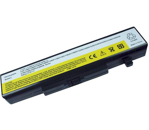 TRX baterie Lenovo/ IBM/ 5200 mAh/ pro IdeaPad G480/ G580/ G485/ G585/ Y480/ Y485/ Y580/ Z380/ Z480/ Z580/ neoriginální