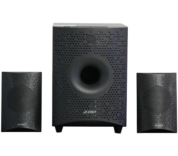 FENDA F&D repro F210X/ 2.1/ 15W/ černé/ BT4.0/ FM rádio/ USB přehrávání/ dálkové ovládání